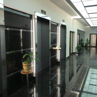 Лифтовой холл, Башня Федерации Восток, Москва Сити