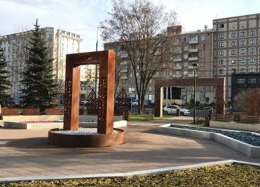 Городской фонтан, Автозаводская площадь, г. Москва